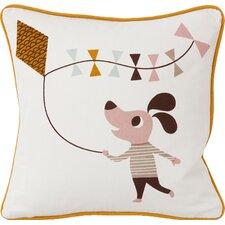 Kite Dog Cotton Throw Pillow