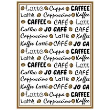 Geschirrtuch Kaffee Latté aus Baumwolle