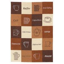 Geschirrtuch Kaffee aus Halbleinen