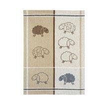 Jacquard-Geschirrtuch Schafe aus Halbleinen
