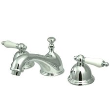 Widespread Bathroom Faucet with Dou Ble Porcelain Lever Handle