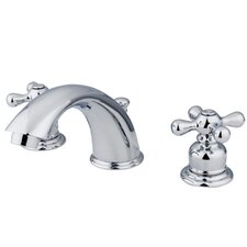 Widespread Bathroom Faucet with Double Metal Cross Handles