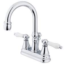 Madison Centerset Bathroom Faucet with Double Porcelain Lever Handles