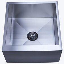 """Denver 22.38"""" x 21"""" Farmhouse Single Bowl Kitchen Sink"""