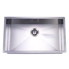 """32"""" x 19"""" Undermount Offset Single Bowl Kitchen Sink"""