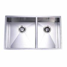 Town Square Undermount Offset Double Bowl Kitchen Sink
