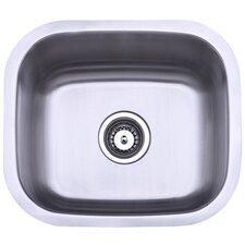 """13.88"""" x 13.5"""" Undermount Single Bowl Kitchen Sink"""