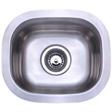 """14.25"""" x 12.25"""" Undermount Single Bowl Kitchen Sink"""