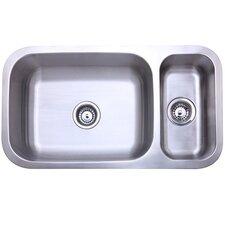"""32"""" x 17.75"""" Double Bowl Undermount Kitchen Sink"""