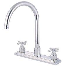 Tampa Double Handle Centerset Kitchen Faucet with Elinvar Cross Handles