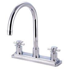Concord Double Handle Deck Mount Kitchen Faucet without Sprayer