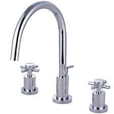 Concord Double Handle Single Hole Widespread Bathroom Faucet with Brass Pop-Up