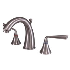 Copenhagen Double Handle Widespread Bathroom Faucet with Brass Pop-Up