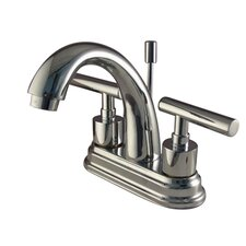 Sydney Centerset Bathroom Faucet with Brass Pop-Up Less Handles