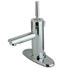 South Beach Single Handle Mono Block Bathroom Faucet with Pop-Up Drain and Plate
