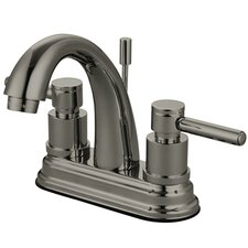 South Beach Double Handle Centerset Bathroom Faucet with Brass Pop-Up