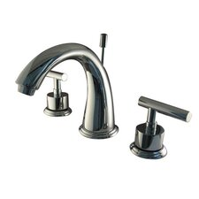 Sydney Double Handle Widespread Bathroom Faucet with Brass Pop-Up