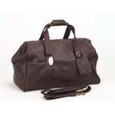 "Luggage Vintage 15"" Leather Carry-On Duffel"