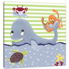Sea Creature Whale of a Tale Canvas Art