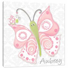 Nature Pink Lady Flutterby Canvas Art