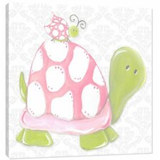 Nature Pink Lady Turtle Canvas Art