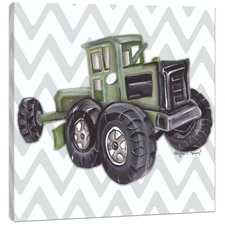 Transportation Vintage Tractor Toy Canvas Art