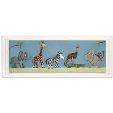 Jungle Safari Parade Canvas Art