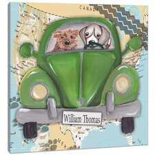 Dogs Road Trip Canvas Art