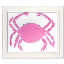 Sea Creatures Caitlin the Crab Framed Art