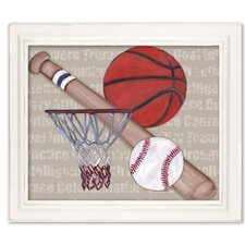 Sports Team Player Framed Art