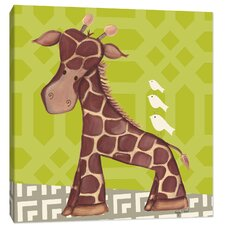 Jungle Jackson Giraffe Canvas Art