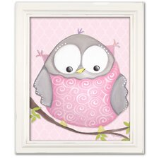 Birds and Bunnies Octavia Owl Framed Art