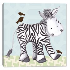 Jungle Zach Zebra Canvas Art