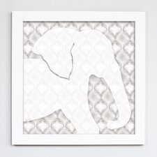Jungle Elephant Silhouette Framed Art