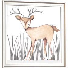 Forest Dawson Deer Framed Art