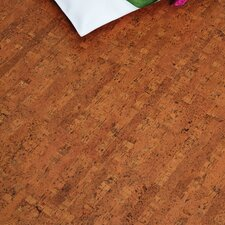 "Colors 12"" Engineered Cork Hardwood Flooring in Titan Brown"