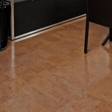 "12"" Engineered Cork Hardwood Flooring in Aphrodite Natural"