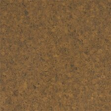 "Floor Tiles 12"" Solid Cork Hardwood Flooring in Terracotta"