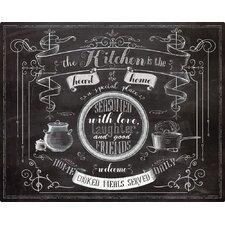 Chalk Talk Kitchen by Lynnea Washburn Non-Slip Flexible Cutting Board