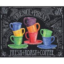 Chalk Talk Coffee by Paul Brent Non-Slip Flexible Cutting Board