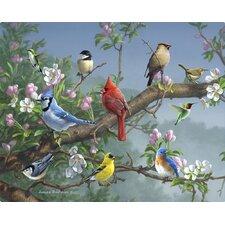 Songbirds in Apple Blossoms by James Hautman Non-Slip Flexible Cutting Board