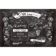 Chalk Talk Wine by Lynnea Washburn Non-Slip Flexible Cutting Board