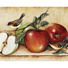"""12"""" x 15"""" Apples and Warblers Design Cutting Board"""