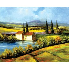 "12"" x 15"" Tuscan Scene Design Cutting Board"