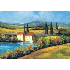 "7.5"" x 11"" Tuscan Scene Design Cutting Board"