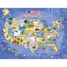 USA Map Play Placemat