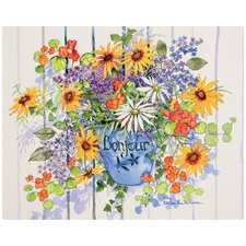 """Lively Poppies by Kathleen Parr McKenna 12"""" x 15"""" Non-Slip Flexible Cutting Board"""
