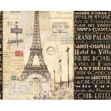Paris Collage Cutting Board
