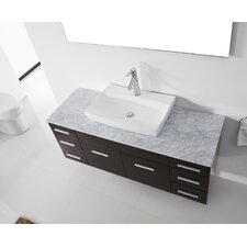 "Ultra Modern Series 56"" Single Bathroom Vanity Set with Mirror"