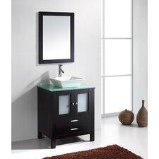"""Brentford Series 27"""" Single Bathroom Vanity Set with Mirror"""